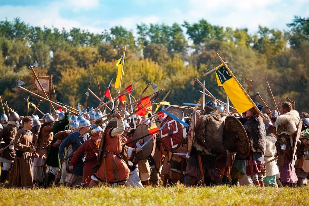 массовая битва на фестивале